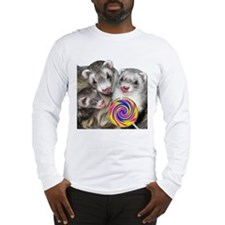Ferrets with Lollipop Long Sleeve T-Shirt