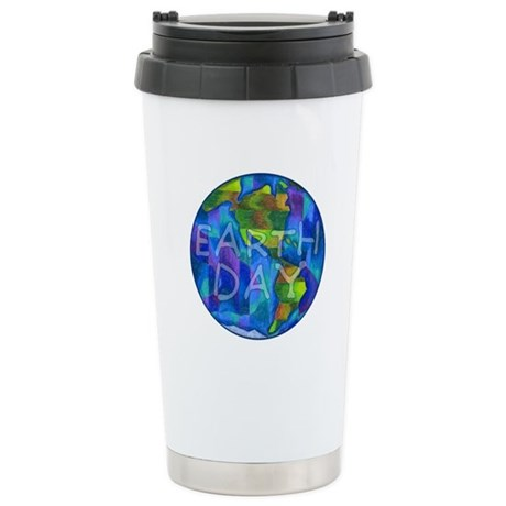 Earth Day Planet Ceramic Travel Mug