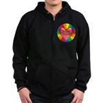 DON'T TOLERATE INTOLERENCE Zip Hoodie (dark)