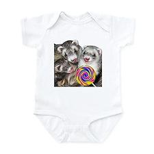 Ferrets with Lollipop Infant Bodysuit