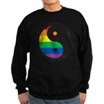 YIN YANG SYMBOL - RAINBOW Sweatshirt (dark)