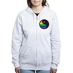 YIN YANG SYMBOL - RAINBOW Women's Zip Hoodie