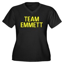 Team Emmett (Yellow) Women's Plus Size V-Neck Dark