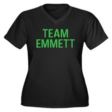 Team Emmett (Green) Women's Plus Size V-Neck Dark
