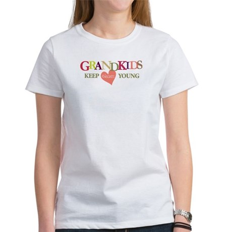 grandkids keep hearts young t-shirt Women's T-Shir