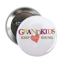 "grandkids keep hearts young t-shirt 2.25"" Button"