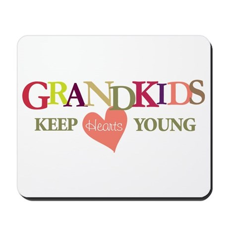 grandkids keep hearts young t-shirt Mousepad