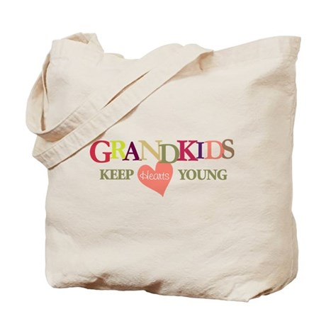 grandkids keep hearts young t-shirt Tote Bag