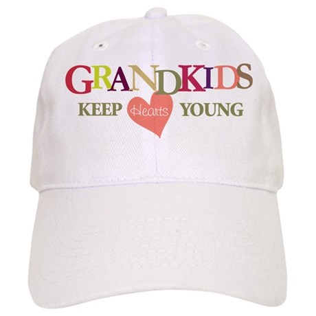 grandkids keep hearts young t-shirt Cap