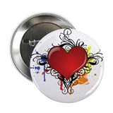 "Love Color Splash 2.25"" Button"