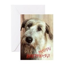 Irish Wolfhound Happy Birthday Greeting Card