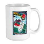 Lighthouse Christmas Lights Large Mug