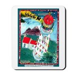 Lighthouse Christmas Lights Mousepad