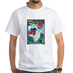 Lighthouse Christmas Lights White T-Shirt