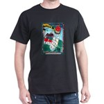 Lighthouse Christmas Lights Dark T-Shirt