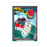 Lighthouse Christmas Lights Postcards (Package of