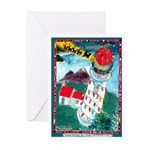Lighthouse Christmas Lights Greeting Card