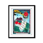 Lighthouse Christmas Lights Framed Panel Print