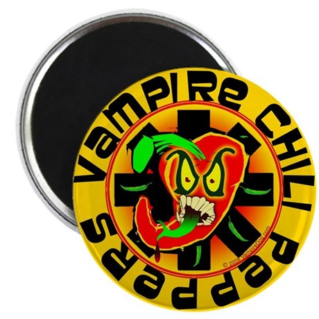 Vampire Chili Peppers Magnet