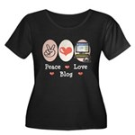Peace Love Blog Women's Plus Size Scoop Neck Dark