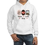 Peace Love Blog Hooded Sweatshirt