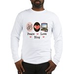 Peace Love Blog Blogging Long Sleeve T-Shirt
