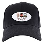 Peace Love Blog Blogging Black Cap