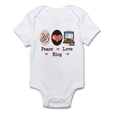 Peace Love Blog Blogging Infant Bodysuit