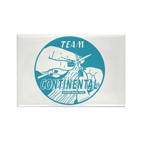 Team Continental Rectangle Magnet