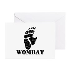 Wombat Footprint Greeting Cards (Pk of 10)