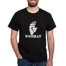 Wombat Footprint Black T-Shirt