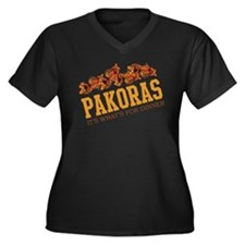 Pakoras - Its Whats For Dinne Women's Plus Size V-