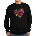 Love & Peace in Heart Sweatshirt (dark)