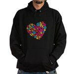 Love & Peace in Heart Hoodie (dark)