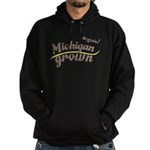 Organic! Michigan Grown! Hoodie (dark)
