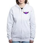 Peace Wing Groovy Women's Zip Hoodie