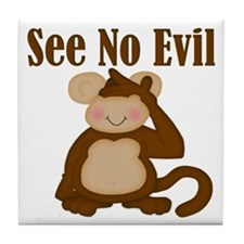 See No Evil Tile Coaster