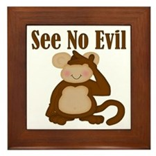 See No Evil Framed Tile