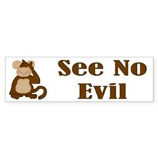 See No Evil Bumper Bumper Sticker