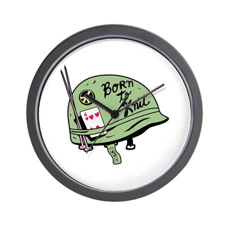 Born to Knit Wall Clock