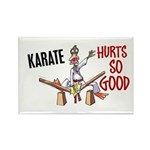 Karate Duck 3 Rectangle Magnet