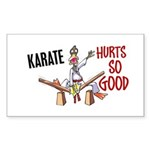 Karate Duck 3 Rectangle Sticker