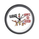 Karate Duck 3 Wall Clock