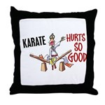 Karate Duck 3 Throw Pillow