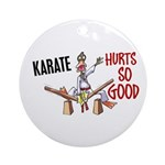 Karate Duck 3 Ornament (Round)