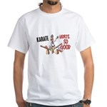 Karate Duck 3 White T-Shirt