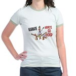 Karate Duck 3 Jr. Ringer T-Shirt