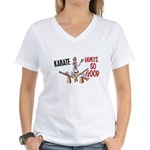 Karate Duck 3 Women's V-Neck T-Shirt