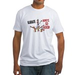 Karate Duck 3 Fitted T-Shirt