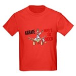 Karate Duck 3 Kids Dark T-Shirt